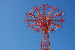 Near The Top Of Coney Island's Parachute Jump