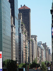 A Shot Of Park Avenue During Typical A New York Summer
