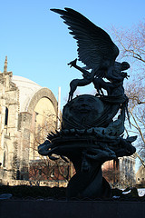 The Peace Fountain, Which Is Outside Cathedral Of Saint John The Divine, Made In 1985