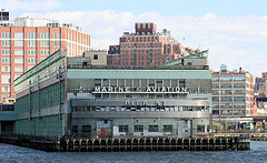A Clear Shot Of The Front Of Pier 57, That Was Built On Floating Concrete Caissons On The Hudson River.