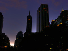 Twilight Outside The Plaza Hotel, A Twenty-story Luxury Hotel In New York City.