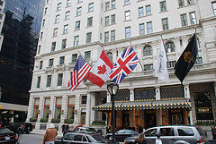 Facade Of The Classic New York Plaza Hotel