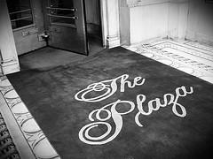 Black & White Photo Of Historical Landmark Plaza Hotel, Rug
