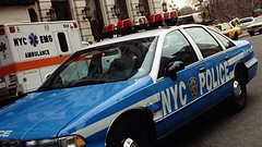 Here Is A Police Car In New York City
