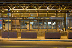 Outside The United States Largest Bus Station, The Port Authority Bus Terminal.