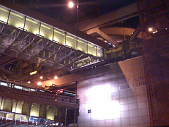 Exterior Of The Port Authority Bus Terminal, Manhattan's Main Arrival Point For Interstate Buses