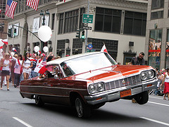 Even The Cars Hop For Joy At The Pulaski Day Parade.