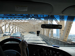 Driving Over The Queensboro Bridge During A Wonderful Sunny Day
