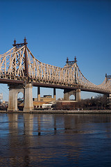 Queensboro Bridge Stretches Across The River.