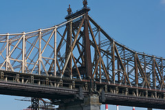 A Close Up Photo Of The Williamsburg Bridge