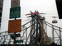 Unique Roosevelt Island Tramway Seens From Queensboro Bridge