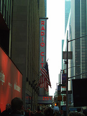 A Side View Of Radio City Music Hall