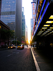 Hoping To Catch A Glimpse Of A Star Outside Rockefeller Center's Radio City Music Hall