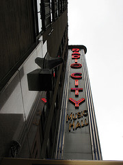 The Famous Sign Of The Radio City Music Hall