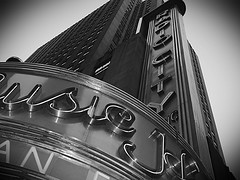 A Nostalgic View Of The Famous Radio City Music Hall.