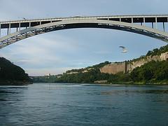 International Steel Arch Rainbow Bridge Across Niagara Gorge Near Niagara Falls