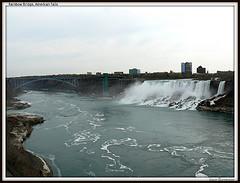Rainbow Bridge At Niagara Falls Spans The Niagara River Gorge