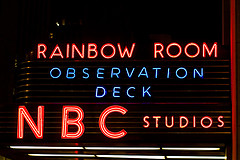 The Rainbow Room Sign Lights Up The Night Sky About Nbc Studios