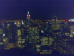 Nighttime At The Rainbow Room, On The Sixty-fifth Floor Of The Go Building In Rockefeller Center.