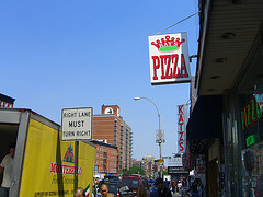 A Picture Of The Ray's Pizza Sign