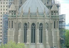 The Interdenominational Riverside Church's Gothic Architecture Under Construction