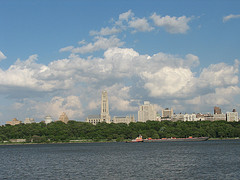 A View Of Riverside Church From Across The Water