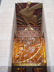 The Entrance To Rockefeller Center In New York, A National Historical Landmark.