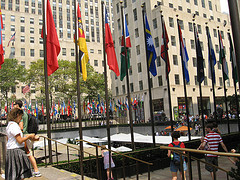 The Plaza At The Rockefeller Center Which Was Founded In 1939 By John D. Rockefeller, Jr.