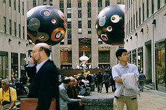 A Crazy Balls With Eyes Sighting At The Rockefeller Center
