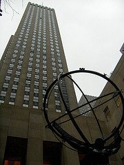 A Two Ton Statue Of Atlas, The Largest Statue In Midtown's Rockefeller Center