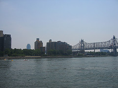 A View Of The East River In Front Of Roosevelt Island Bridge