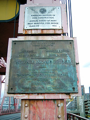 A Rusty Old Metal Documenting The Roosevelt Island Bridge