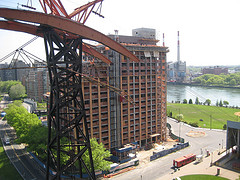 Under Construction Of Roosevelt Island Tramway, After That Would Be Roosevelt Island Tramway