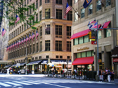 This A  Photograph Of Saks Fifth Avenue In New York City, A Luxury Specialty Store.