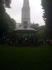 Sakura Park On A Dreary Rainy Day.