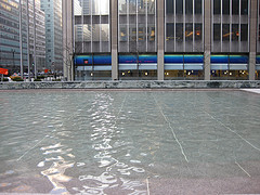 Pool Across From The Seagram Building On Fifth Avenue