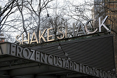 The Shake Shack At Madison Square Park, Famous For Delicious Burgers, Frozen Custard, And Beer