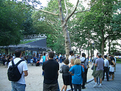 Lines Of People Wait To Get A World Famous Shake From The Shake Shack