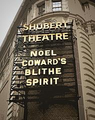 Broadway's Shubert Theatre Showing Noel Coward's Blithe Spirit