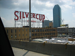 A Rooftop Shot Of The Silvercup Studio Building, Which Is The Largest Movie And Production Building In Nyc