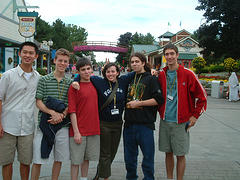 A Group Enjoys A Trip To Six Flags, An Amusement Park With Headquarters In Manhattan.