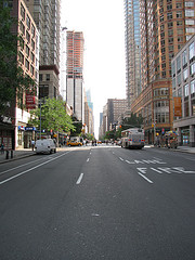 A Breathtaking View Of New York City's Sixth Avenue.