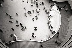 A View From The Top Of The Solomon R. Guggenheim Museum, In New York City.