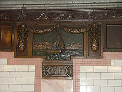 A Wood Accent Piece Inside The South Ferry Found While Renovating The Old Fort
