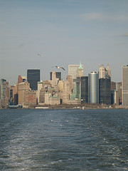 The Big Apple As Seen From The Deck Of The South Ferry (Manhattan)