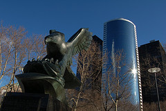 A Eagle Sculpture Near The South Ferry Area