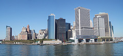Wide Camera Shot Of The South Ferry Area In Manhattan, Its In The Right