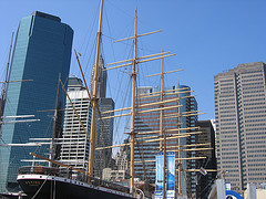 The World Famous South Street Seaport During The Day Time