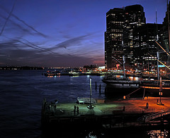 A Very Vivid Shot Of South Street Seaport Just After Sunset