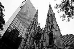 Another New York Icon, St Patrick's Cathedral, Wonderful Black And White Shot